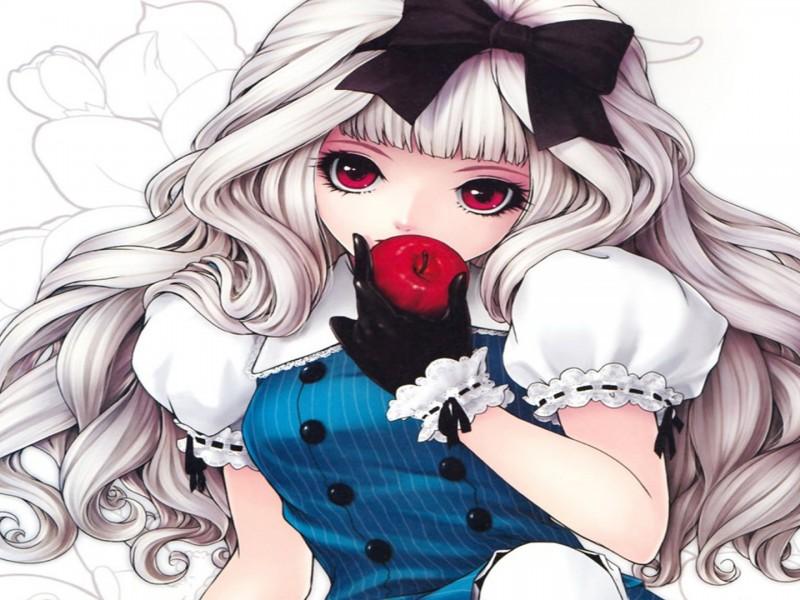 wallpaper hd apfel und anime