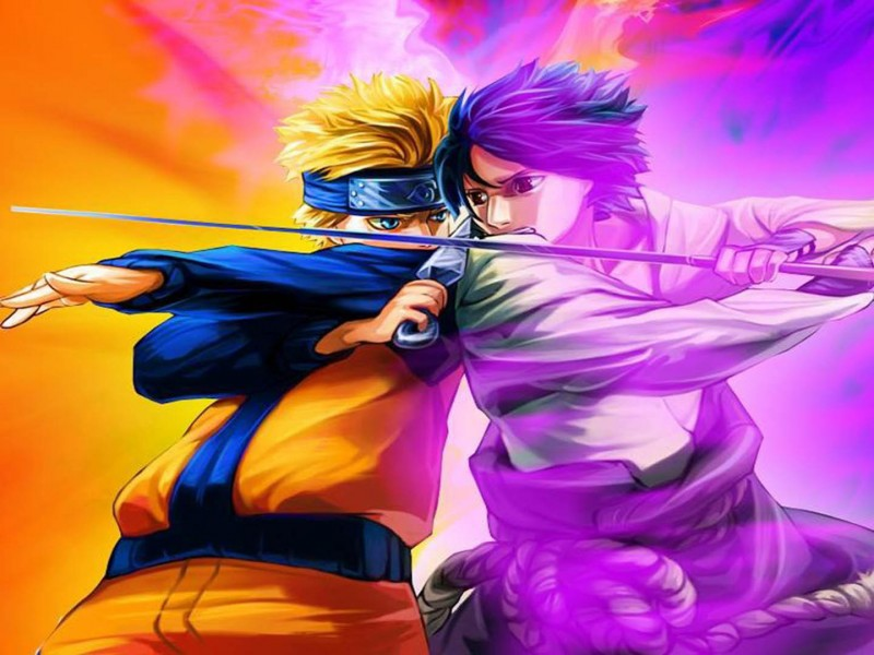 wallpaper hd anime naruto vs sasuke